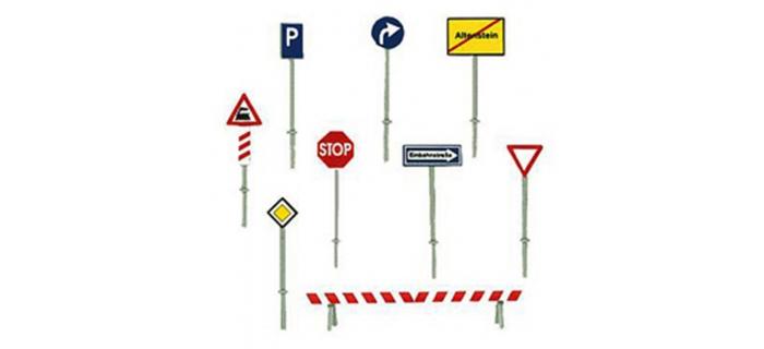Modélisme ferroviaire : FALLER F272450 - Panneaux Signalisation N