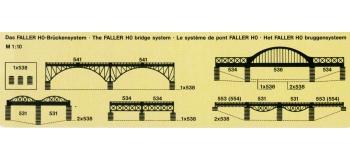 faller 120538 piliers pont en béton