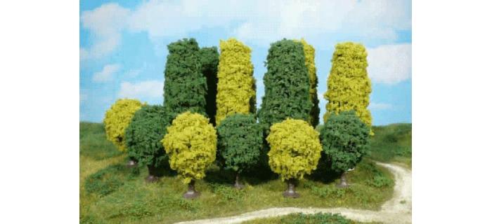 Heki 1030 - 4 arbres vert, 6-7 cm