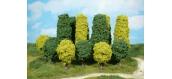 4 arbres, vert clair, 6-7 cm