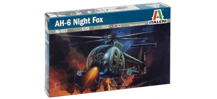 Maquettes : ITALERI I017 - Hélicoptère AH-6 Night Fox