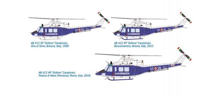 ITALERI I1361 - Bell AB212 Carabinieri