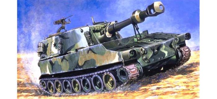 Maquettes : ITALERI I235 - Obusier M109G