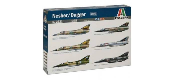 Maquettes : ITALERI I2721 - Avion Nesher/Dagger/Mirage V