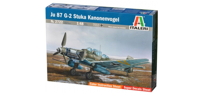 Maquettes : ITALERI I2722 - Avion Junkers Ju87G-2 Stuka