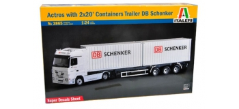 Maquettes : ITALERI I3865 - Camion Actros containers Schenker