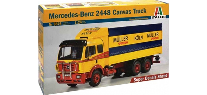 Maquettes : ITALERI I3876 - Camion Mercedes 1853 bâché
