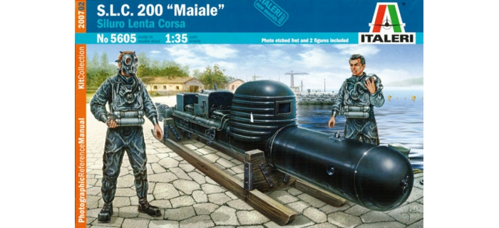 Maquettes : ITALERI I5605 - Torpille SLC Maiale