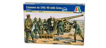Maquettes : ITALERI I6165 - Canon Italien 149/40 et servants