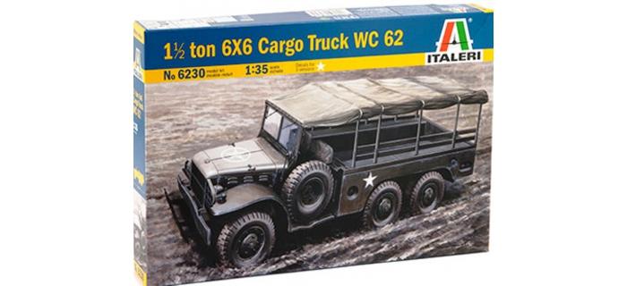 ITALERI I6230 - Maquettes : Dodge WC62 6X6 1,5 ton