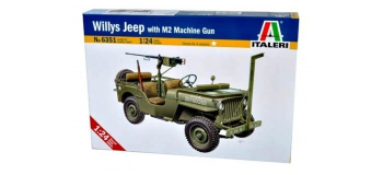 Maquettes : ITALERI I6351 - Jeep Willys et mitrailleuse