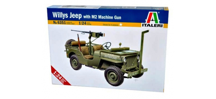 jeep willys et mitrailleuse i6351 italeri militaire. Black Bedroom Furniture Sets. Home Design Ideas