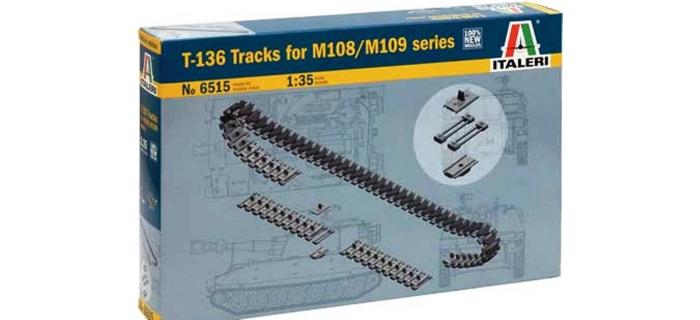 Maquettes : ITALERI I6515 - Chenilles de M109