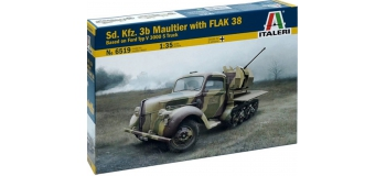 Maquettes : ITALERI I6519 - Half-track Kfz.3b Maultier FlaK 38