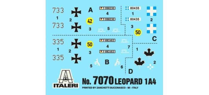 ITALERI I7070 - Char Léopard 1 A3/A4