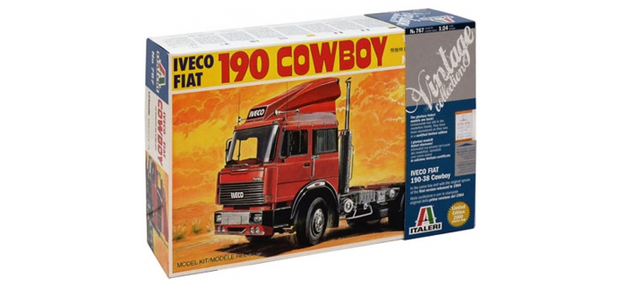 Maquettes : ITALERI I767 - Camion tracteur IVECO 190-38 Cow Boy