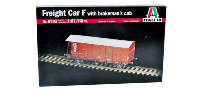 Maquettes : ITALERI I8703 - Wagon avec guérite frein