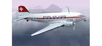 Maquettes : ITALERI I1349 - DC-3 Swiss Air Lines