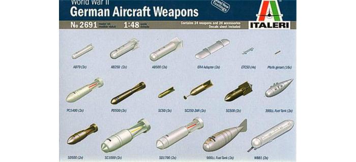 Maquettes : ITALERI I2691 - Armements avions Allemand