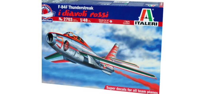 Maquettes : ITALERI I2703 - F-84F Diavoli Rossi