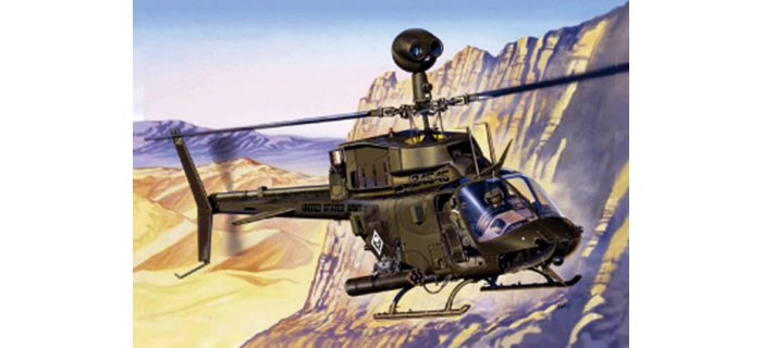 Maquettes : ITALERI I2704 - OH-58D Kiowa