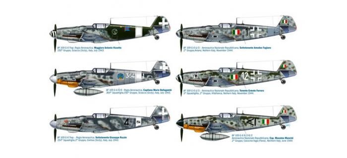ITALERI I2719 - Messerschmitt Bf109G-6 Italiens