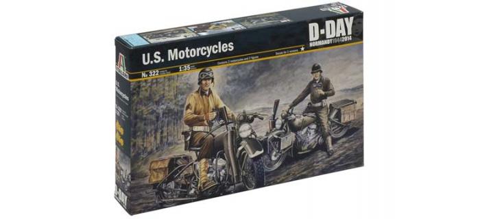 Maquettes : ITALERI I322 - Motos US 2ème G.M