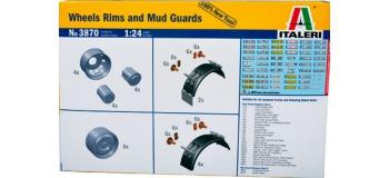 Maquettes : ITALERI I3870 - Jantes et garde-boue