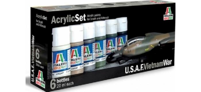 Maquettes :   ITALERI I443AP - Set Peintures USAF Vietnam