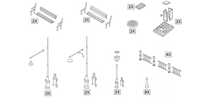 ITALERI I6146 - Accessoires urbains
