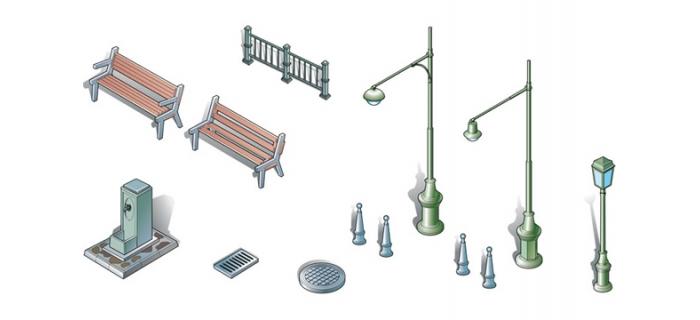 Maquettes : ITALERI I6146 - Accessoires urbains