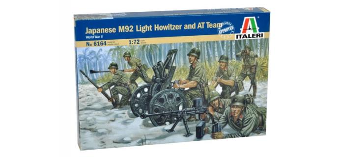 Maquettes : ITALERI I6164 - Canon Japonais 70mm et serv.