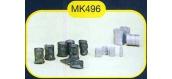 modelisme ferroviaire mkd mk496 Sacs de charbon, jerricans, tonneaux