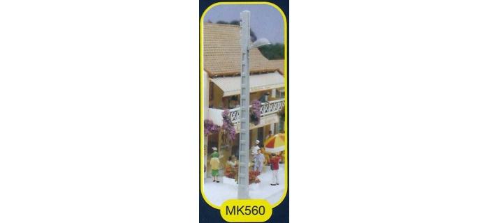 mkd mk560 2 lampadaires avec poteaux béton