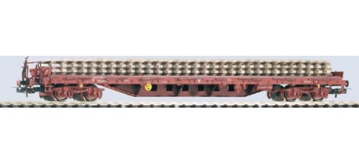 PIKO 54827.3 - Wagon plat SNCF, type RS avec traverses