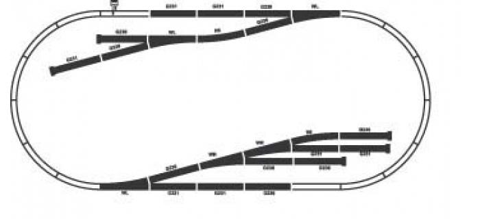 modelisme ferroviaire PIKO 55330 Coffret de rails D