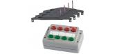 PIKO 55392 Coffret 1 boiter de commande / 4 moteurs aiguillages