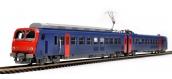 Modélisme ferroviaire:  PIKO PI 96400 - Automotrice Z9602 - logo casquette - 2 rails