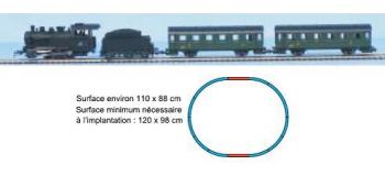Modélisme ferroviaire : PIKO PI1003 - Coffret de départ train vapeur voyageur