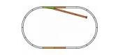 Modélisme ferroviaire : PIKO - PI 55311 - Voie PIKO A - Coffret de rails avec ballast