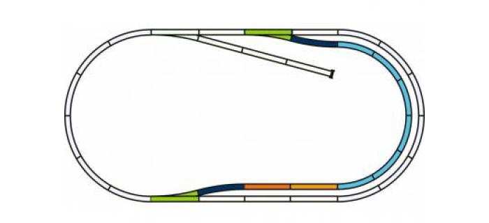 Modélisme ferroviaire : PIKO - PI 55321 - Voie PIKO A - Coffret de rails avec ballast C