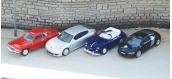 MODELISME FERROVIAIRE :  PIKO PI 55737 - Lot de 4 véhicules en métal