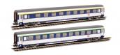 Modélisme ferroviaire : PIKO PI 58653 - Set 2 Corail VU couchettes 1/2CL SNCF - EP VI