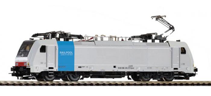 Modélisme ferroviaire : PIKO PI 59952 - Locomotive électrique BR186 RAILPOOL