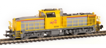 Modélisme ferroviaire : PIKO PI96474 - Locomotive diesel BB 60000 livrée INFRA SNCF digital son