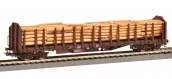Modélisme ferroviaire : PIKO PI 97097 - Wagon Porte Grumes, chargé grumes