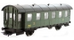 Modélisme ferroviaire : PIKO PI 97032 - Voiture voyageurs seconde classe à essieux n°Btmfp 17805