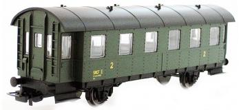 Modélisme ferroviaire : PIKO PI 97033 - Voiture voyageurs boite à tonnerre 2ème classe SNCF