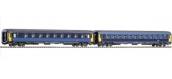 Modélisme ferroviaire : PIKO PI 94339 - Set de 2 voitures Corail Lunea 1/2CL - SNCF - N