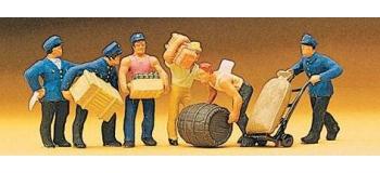 PREISER 10016 Manutentionnaires transportant des caisses